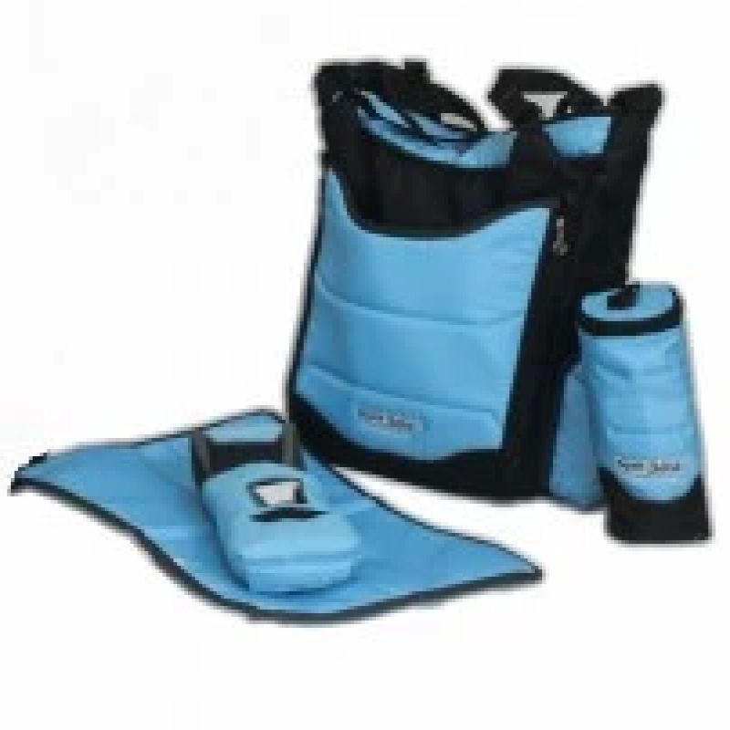 Diaper-bag-for-keeping-baby-supplies-from-Petit-bébé-with-bottle-cap,-wipes-cover-and-a-piece-of-baby-cloth-_-blue-color