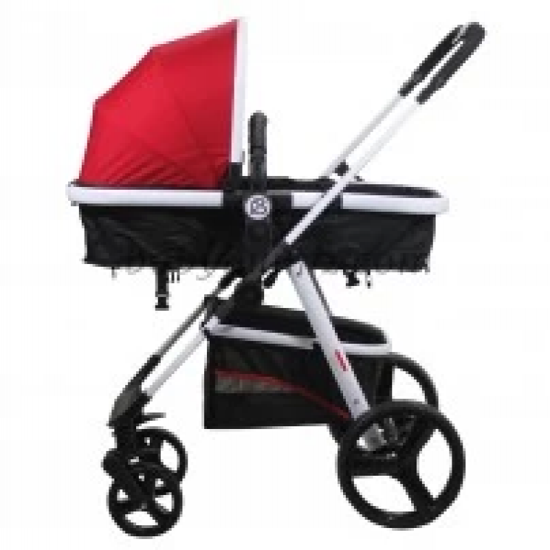 Baby-Stroller,-can-be-separated-from-the-bed-and-move-without-the-structure-of-the-brand-Petit-bébé_-red-color