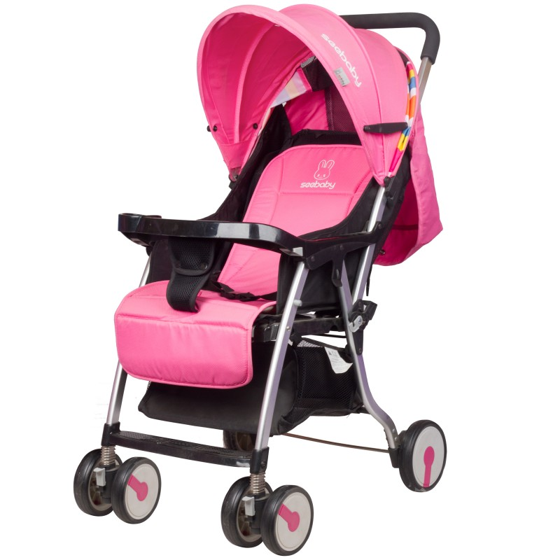 Stroller children light weight suitable for newborn - color Pink
