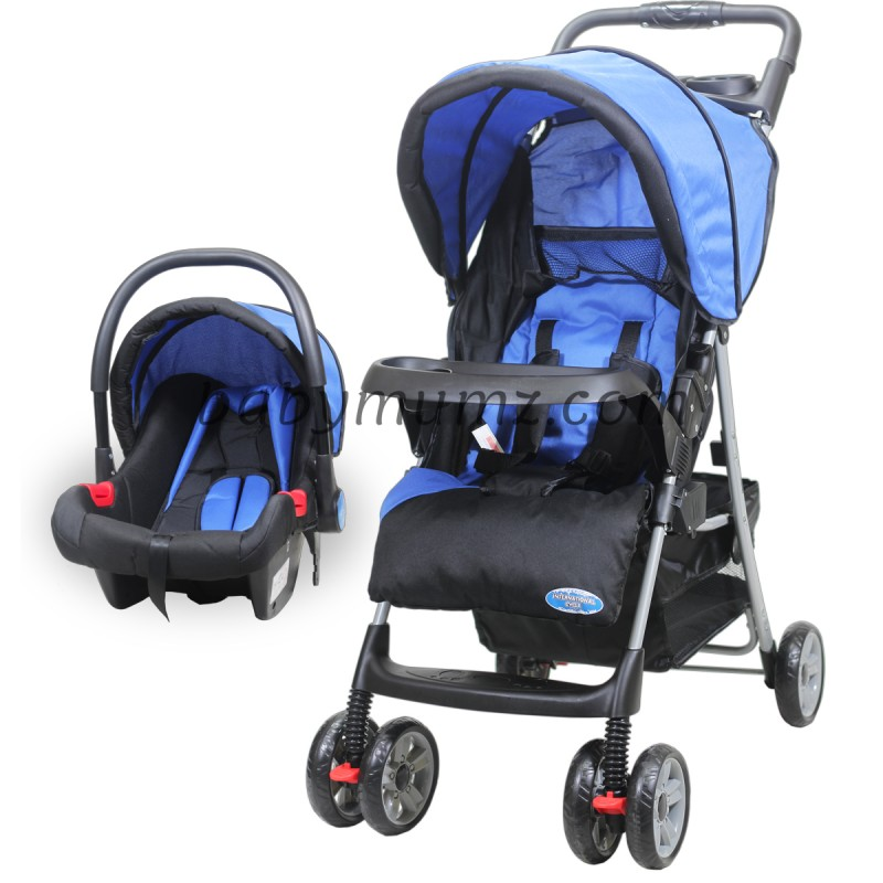 Baby stroller International Travel System Set with Car Seat _ Blue Color.